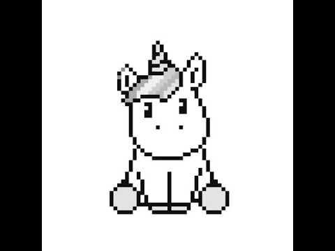 Pixel Art Licorne Youtube