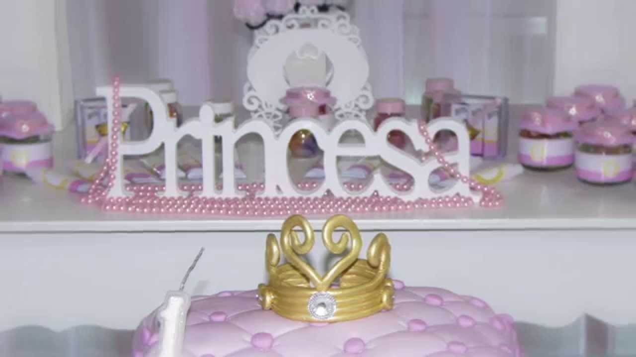 Festa Tema Princesa Fotos e Videos Virginia FotoVip Decoraç u00e3o Dani Maciel Decorações YouTube