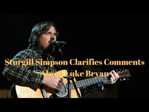 Sturgill Simpson Clarifies His Comments About Luke Bryan [December 12, 2017]