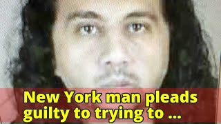 New York man pleads guilty to trying to support terrorism
