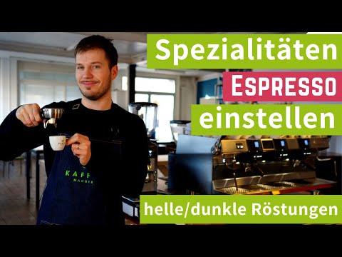Spezialitäten Espresso einstellen