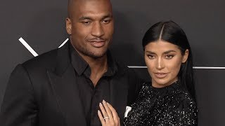 Nicole Williams and Larry English at GQ 2018 All Stars Celebration Party