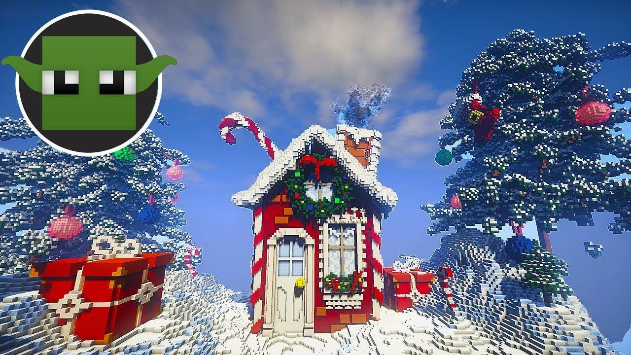Minecraft Christmas.Epic Minecraft Christmas Build 2