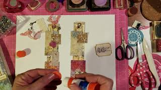 How To Make Collage Bookmarks - Use Up Scraps