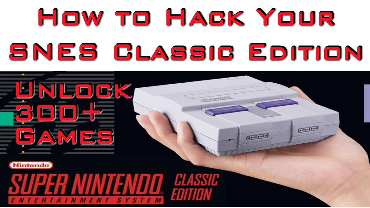 How to Hack Your SNES Classic Official Release - 300+ Games
