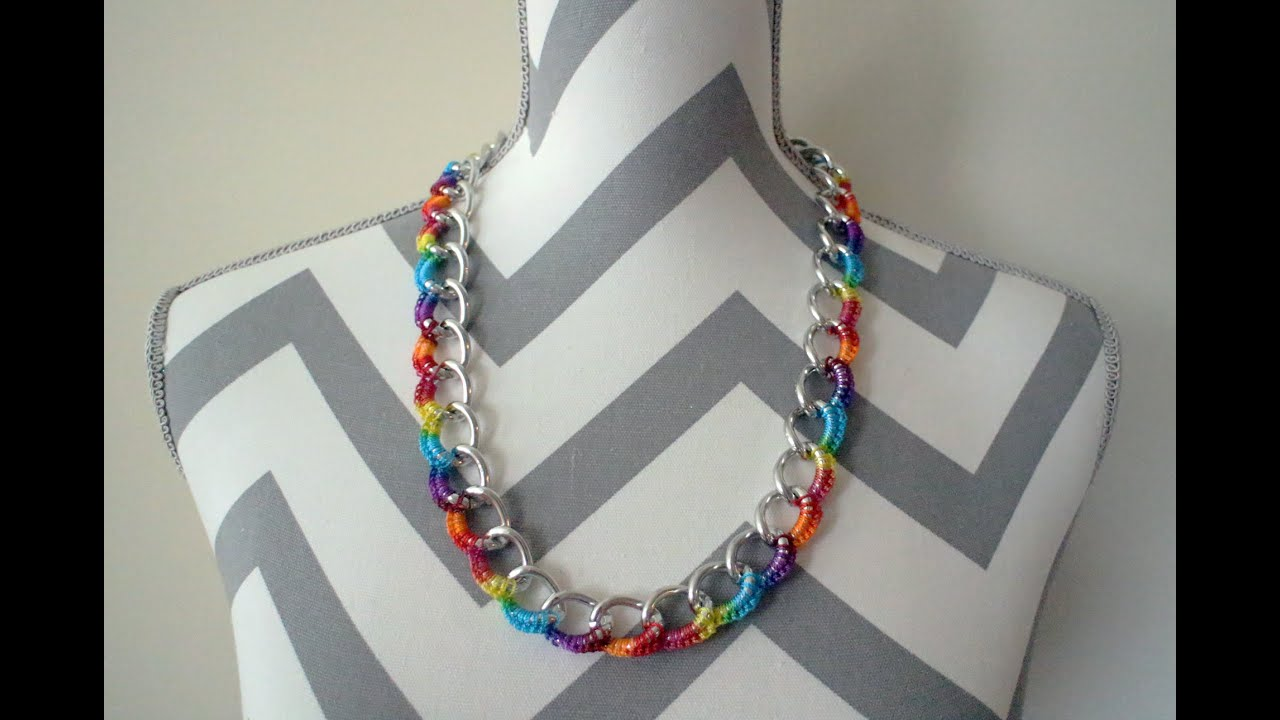 Crochet Curb Chain Necklace - YouTube