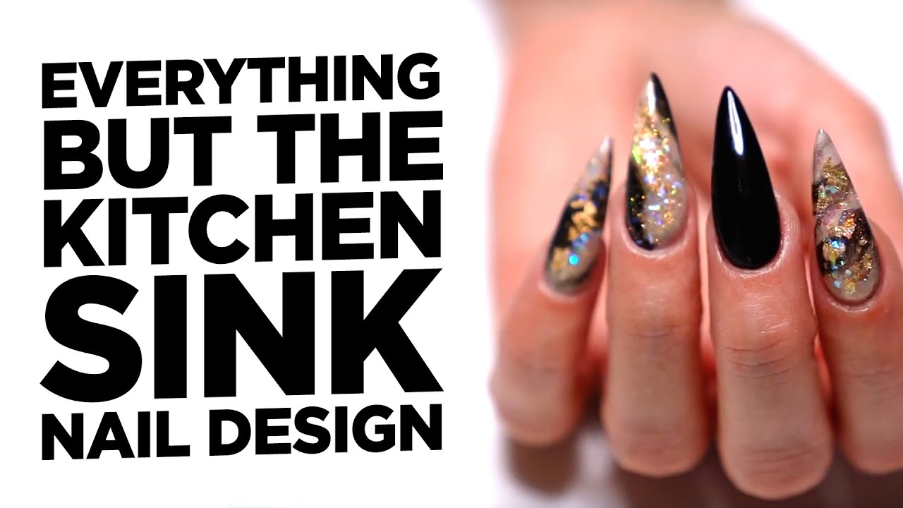 everything but the kitchen sink nails
