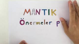9. SINIF MATEMATİK 1.ÜNİTE MANTIK (Önermeler) (2018-2019)-Yeni