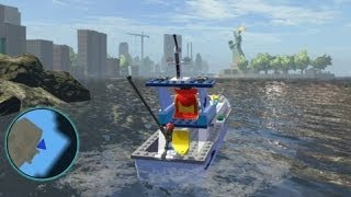 LEGO Marvel Super Heroes - All Water Vehicles in Action (Boat Tour of LEGO NYC)