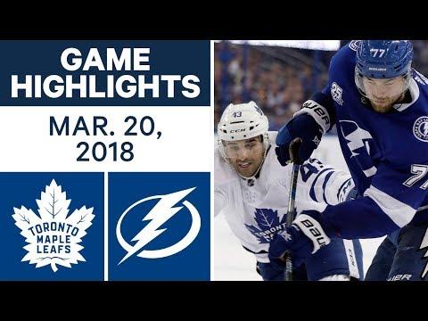 NHL Game Highlights | Maple Leafs vs. Lightning - Mar. 20, 2018
