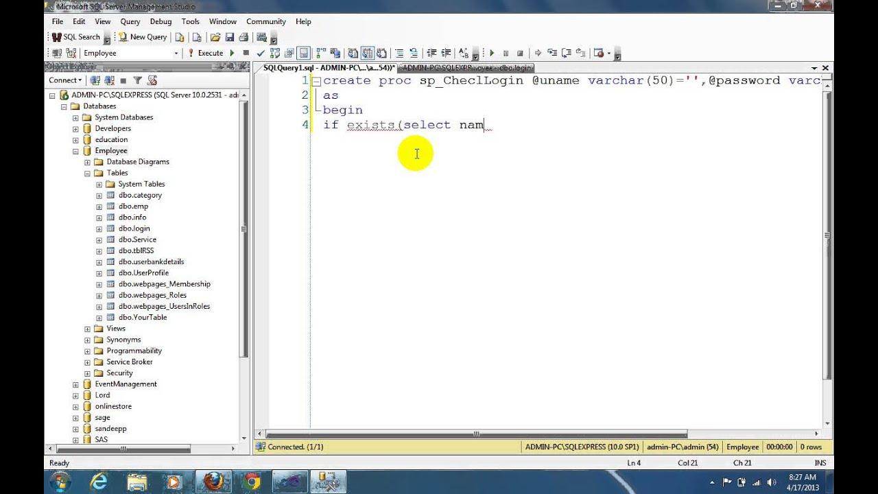 Login By stored procedure in asp net