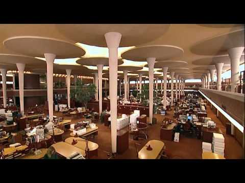 "Architecture. Frank Lloyd Wright ""Johnson Wax Administrative Building"""