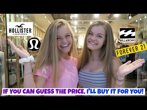 If You Can Guess the Price I'll Buy It For You Challenge ~ Jacy and Kacy