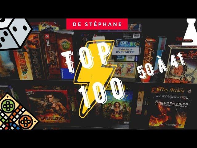 Top 100 de la Zone Jeux de Société (Édition Stéphane) - #50 à 41