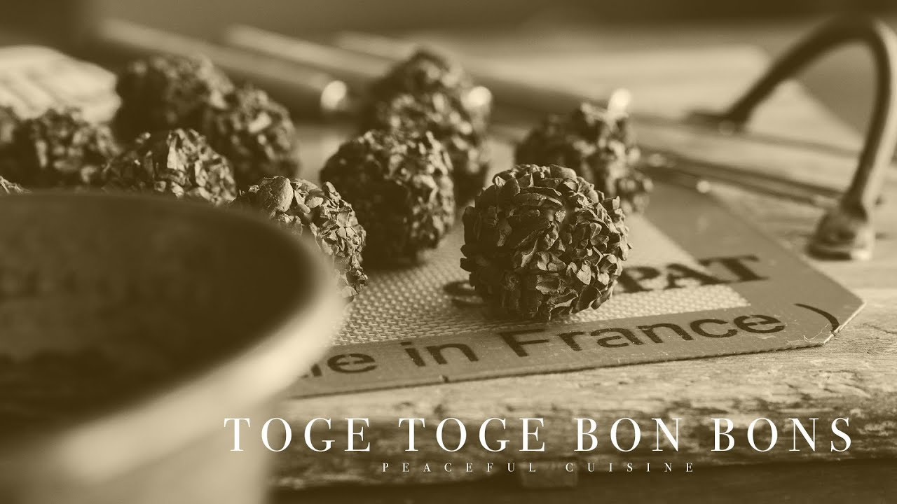 [No music] How to make Toge Toge Bon Bons