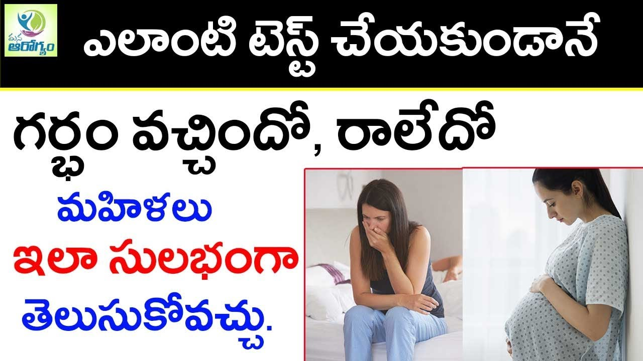 Pregnancy Symptoms Mana Arogyam Telugu Health Tips Youtube