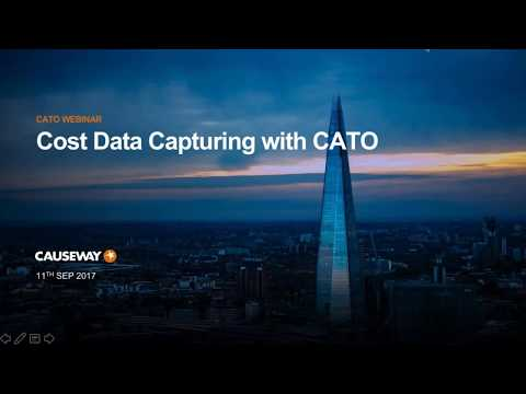 WEBINAR: Cost Data Capturing with CATO