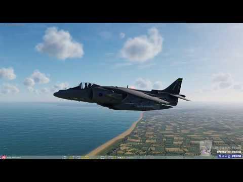DCS World - Normandy 2.2 - AV-8B Harrier Practice.