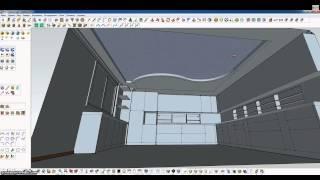 SketchUp моделируем потолок