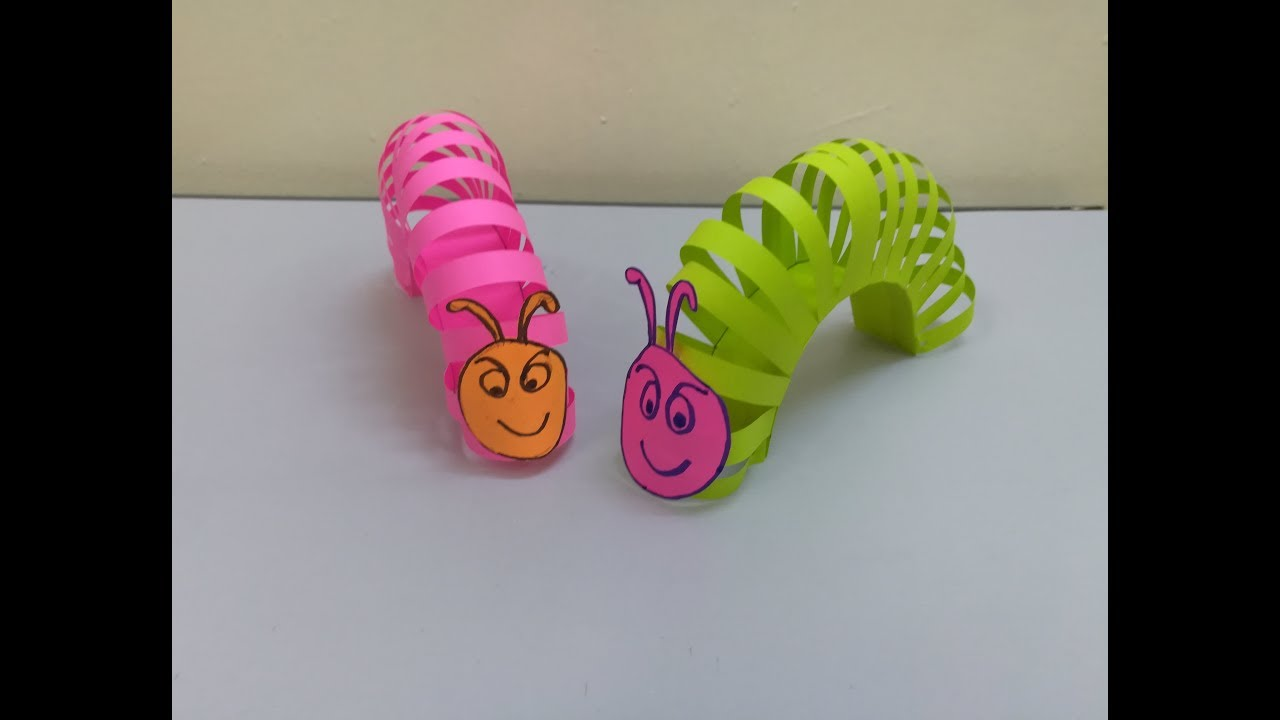 How to make a paper worm I Making paper toys for kids