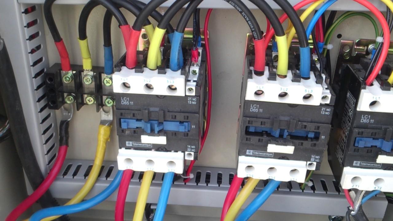 wiring diagram of magnetic contactor home inverter interlock between 2 - youtube