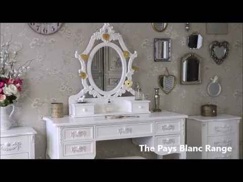 Pays Blanc Range Melody Maison French White Ornate Bedroom Furniture
