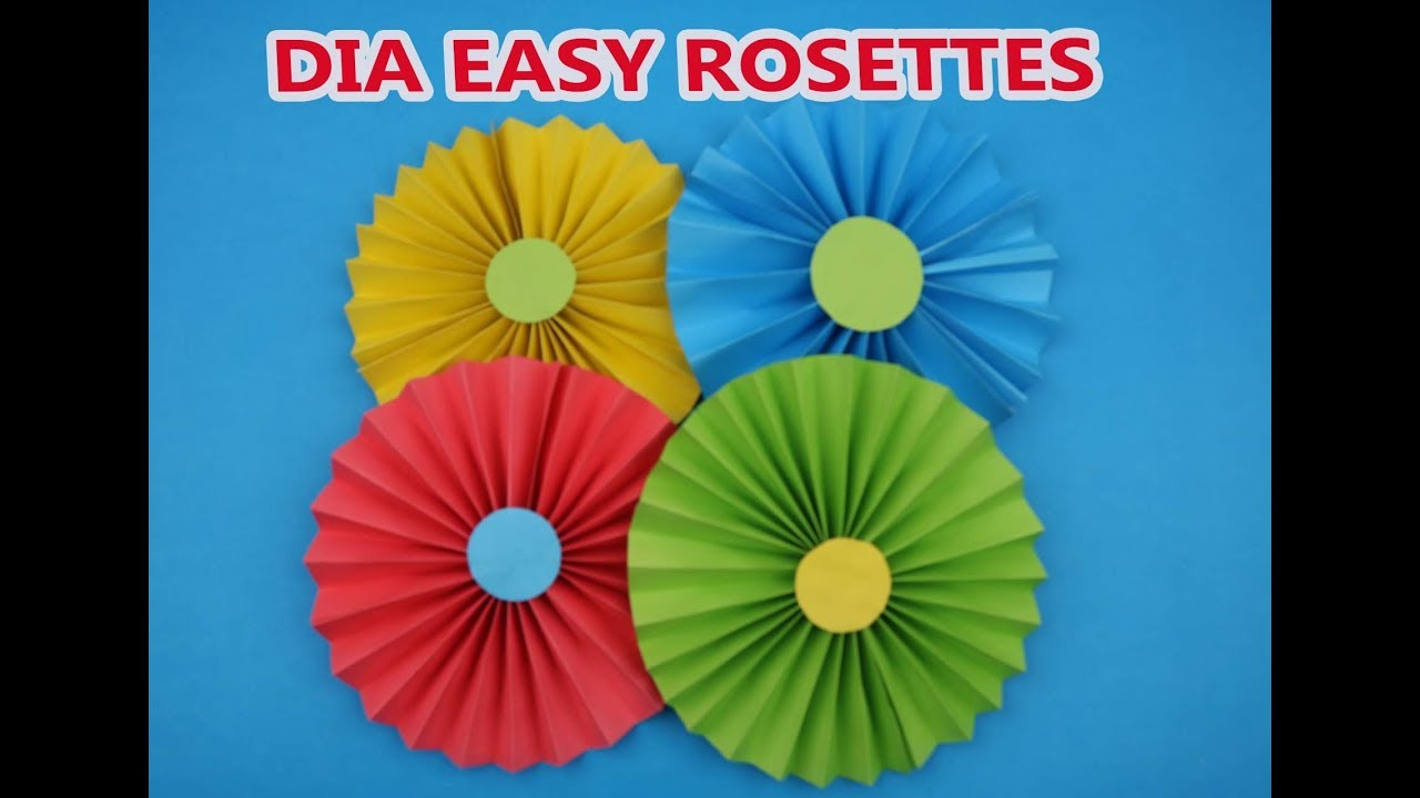 How To Make Simple Paper Rosettes Spring Flowers Make Paper Fan