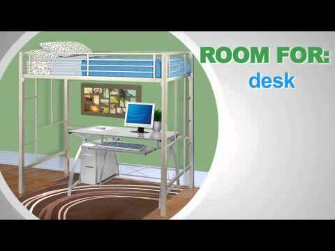 Your Zone Loft Collection Metal Loft Bed 5410096w Youtube