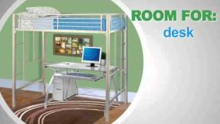 Your Zone Loft Collection Metal Loft Bed - 5410096w