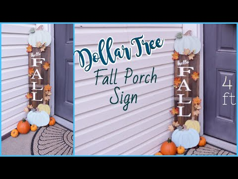 Dollar Tree DIY Fall Decor | Porch Decor
