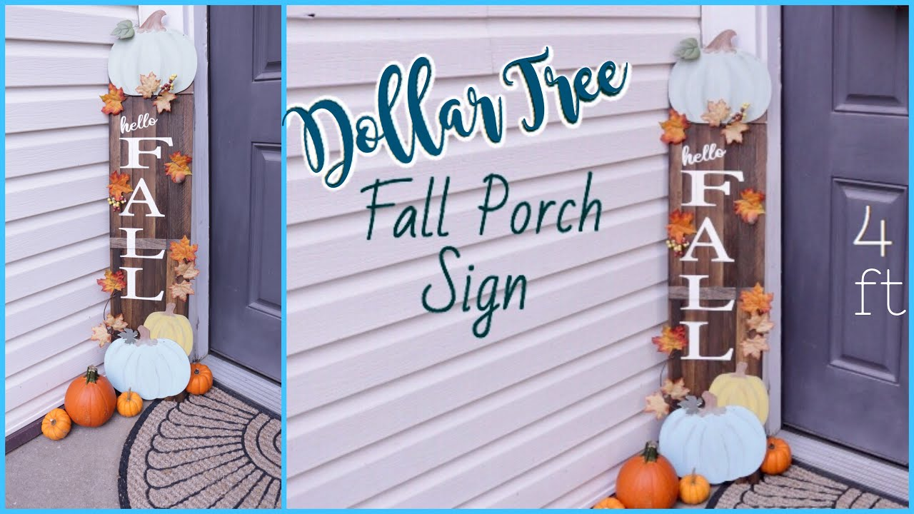 Dollar Tree Diy Fall Decor Porch Decor Youtube