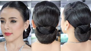 Elegant Wedding Hairstyle, Wedding Hairstylist Tutorial สอนเกล้าผม เจ้าสาวเรียบหรู โดย ครูหญิง ภัครา
