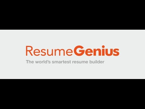 Resumegeniuscom Creating a professional resume YouTube