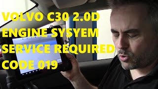 volvo c30 2 0d engine system service required code 019 eolys pat dpf fluid