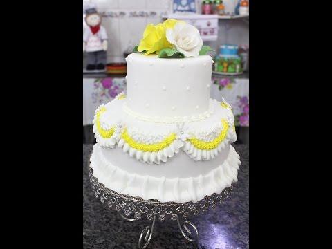 Como Fazer um lindo bolo de Casamento - Técnicas fáceis