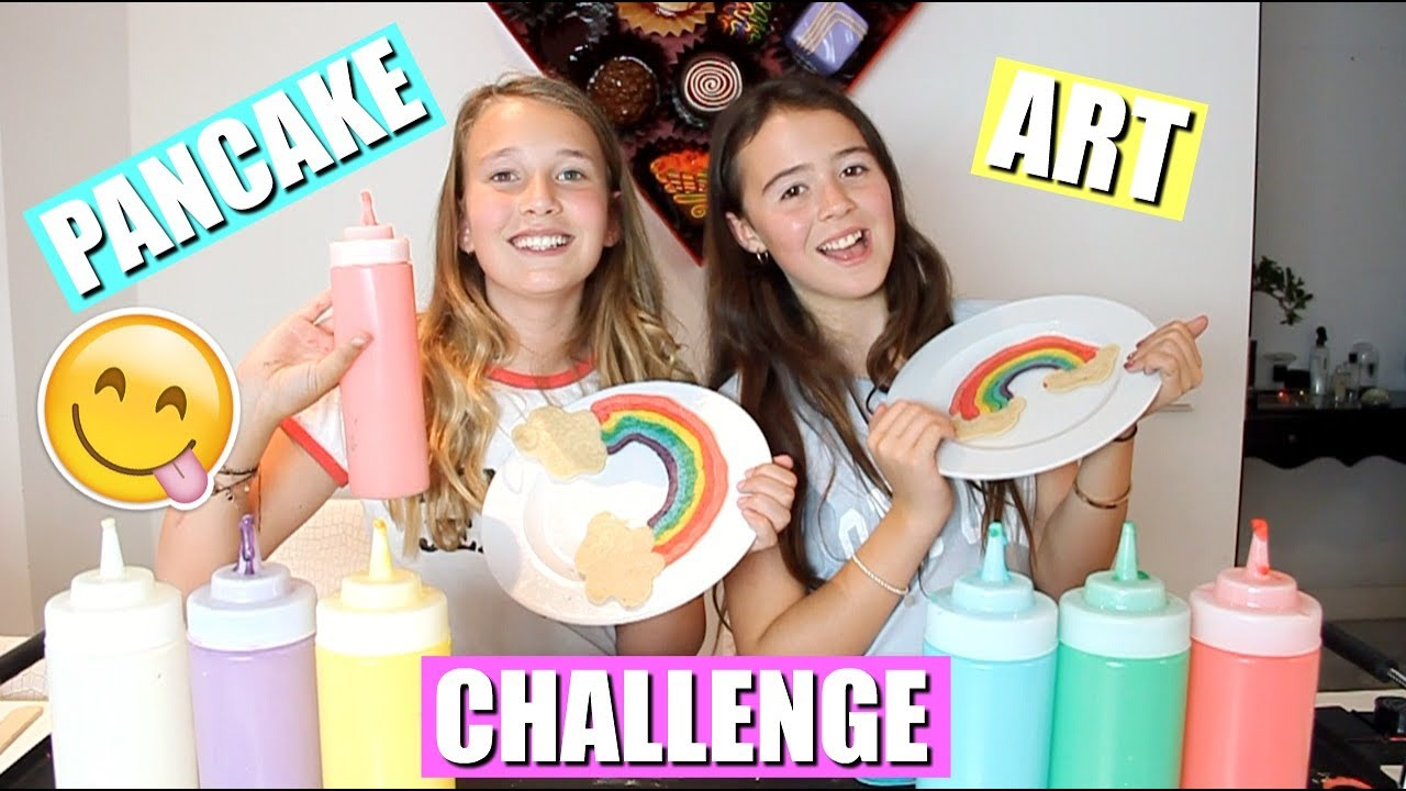 Girlys Blog Pancake Art Challenge!! - Youtube