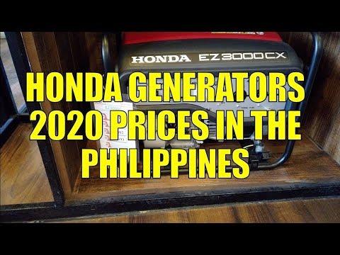 Honda Generators. 2020 Prices In The Philippines.