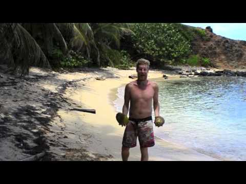 How To Open A Coconut - Caribbean Style