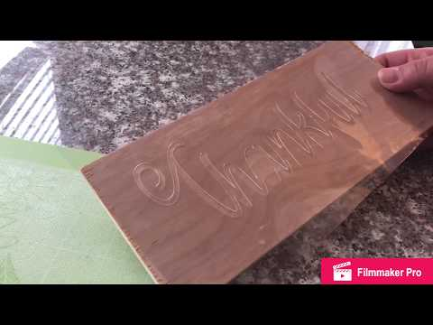 How to make a reusable stencil for wood signs