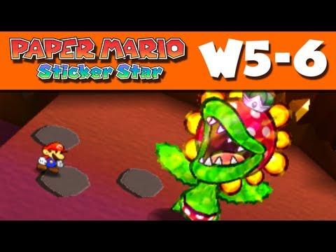 Paper Mario Sticker Star - World 5-6 - Rumble Volcano W5-6 (Nintendo 3DS Gameplay Walkthrough)