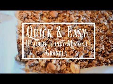 Quick & Easy Honey Almond Granola Recipe | Food | Health | Lifestyle | p.s.byHannahMarie