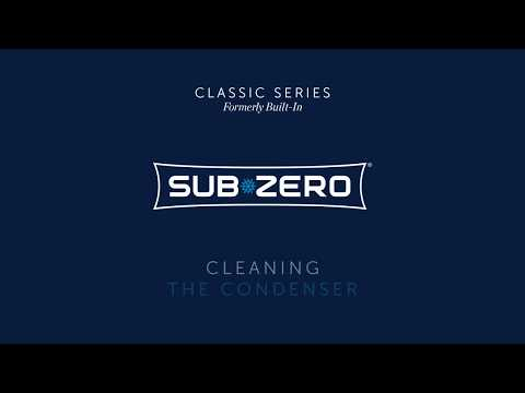 Sub-Zero Classic Formerly Built-In - How To Clean the Condenser