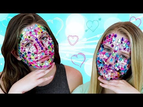 FULL FACE RHINESTONES || Taylor and Vanessa