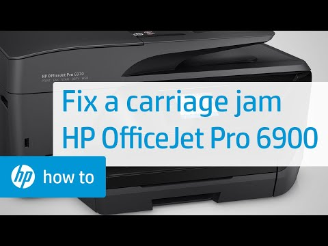 Fixing a Carriage Jam | HP OfficeJet Pro 6900 Printers | HP