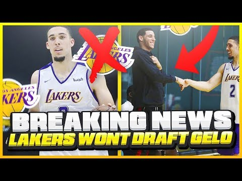 The LAKERS Not Impressed With LIANGELO BALL & Will NOT Draft Him!