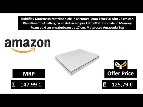 Materasso Memory Foam Baldiflex.Baldiflex Materasso Matrimoniale In Memory Foam 160x190 Alto 23