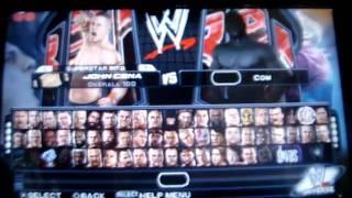 """WWE Smackdown Vs. Raw 2011 PSP """"Full Character"""""""