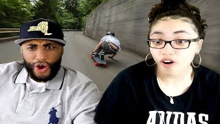MY DAD REACTS Raw Run    70 mph in Switzerland REACTION