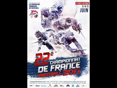 LIve Championnat de France de paintball 2017 - Dimanche 4 juin 13h/20h30