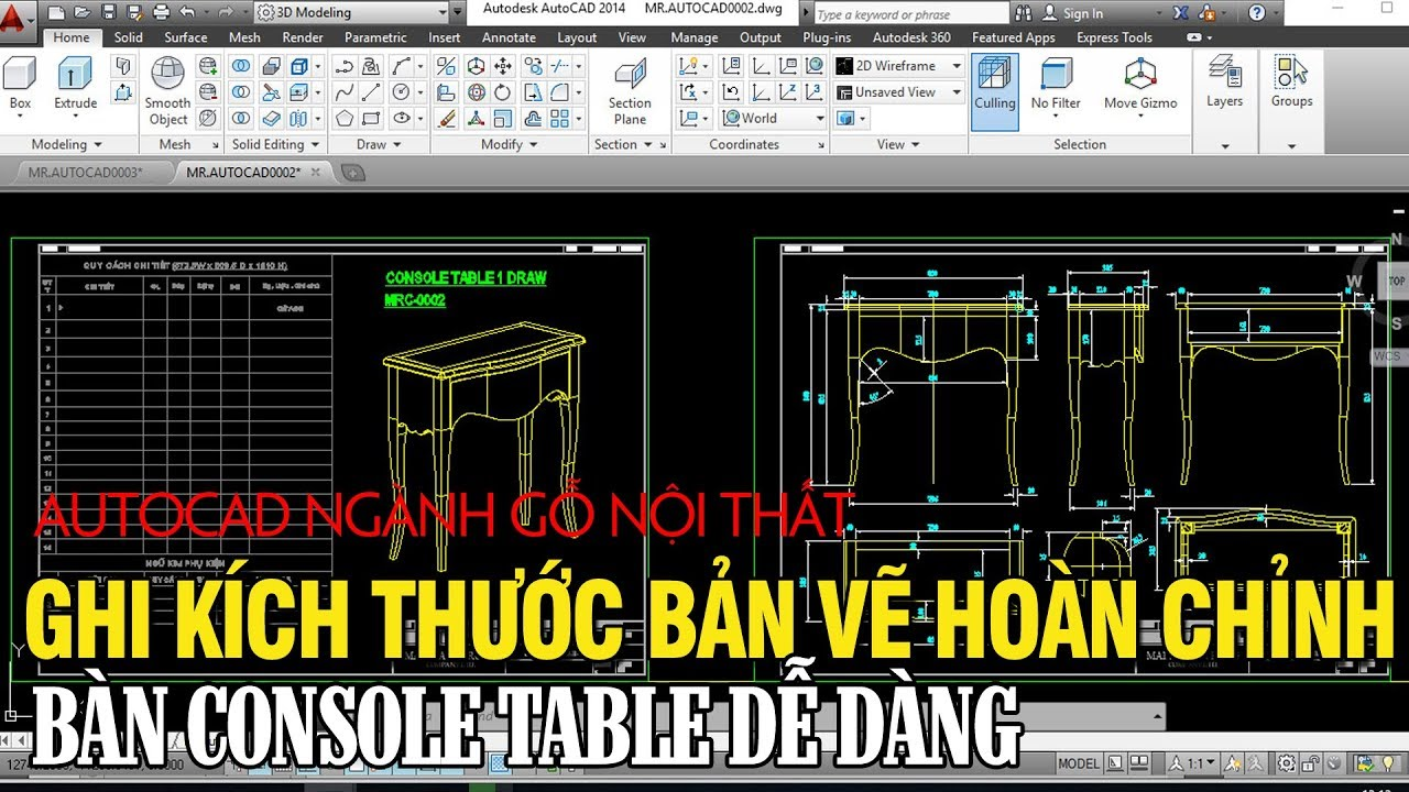 Cách ghi kích thước bản vẽ Autocad ngành thiết kế nội thất(MRC-0002)